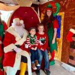 Louise O'Neil (elf) Charlie , Lexi and Hannah MacDermid (elf) with Santa at last year's event. NO F49 Kyle RNLI santa event