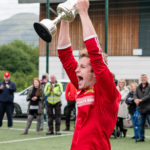 Martin Munro pictured holding the Greater Glasgow Premier League Division Two trophy aloft back in the summer. Photograph: Abrightside Photography. NO F49 Martin Munro