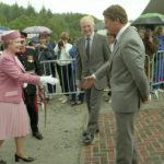 The Queen visits Nevis Range in 1991. NO F50 Nevis Range at 30