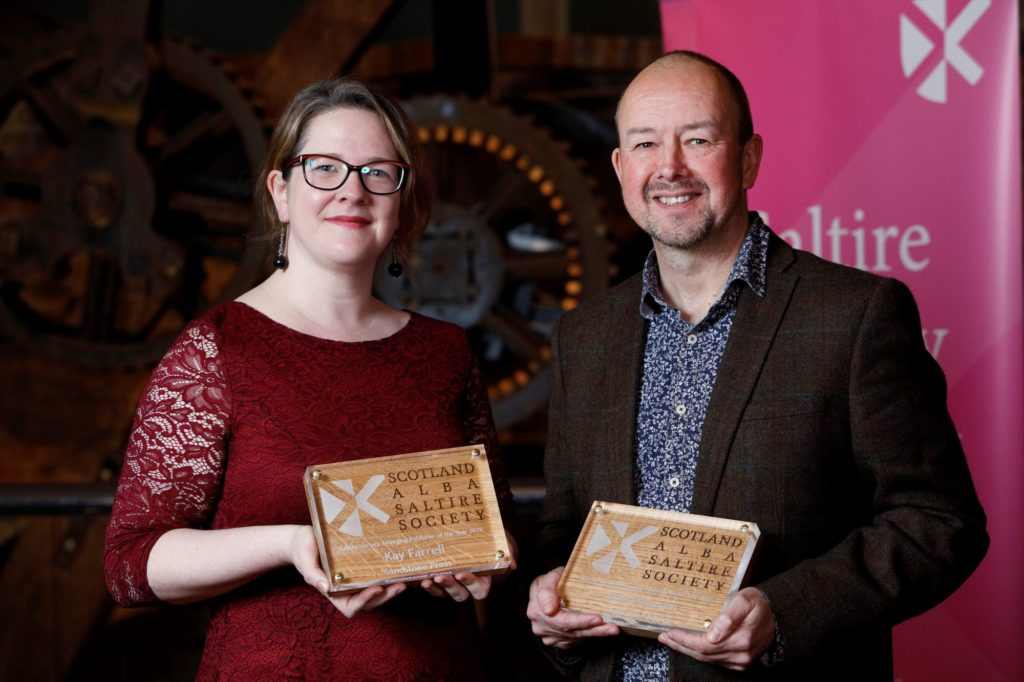 Oban publisher celebrates winning Saltire Award