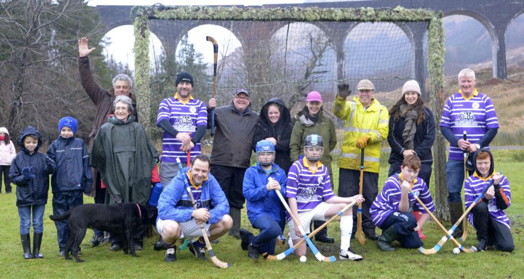 Rain fails to dampen annual Glenfinnan shinty match